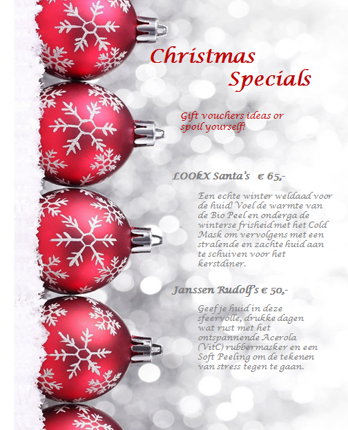 Christmas specials schoonheidssalon rosalie for 12 days of christmas salon specials